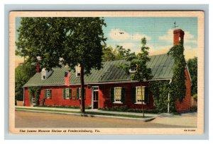 The James Monroe Shrine, Fredericksburg VA c1947 Linen Postcard M14