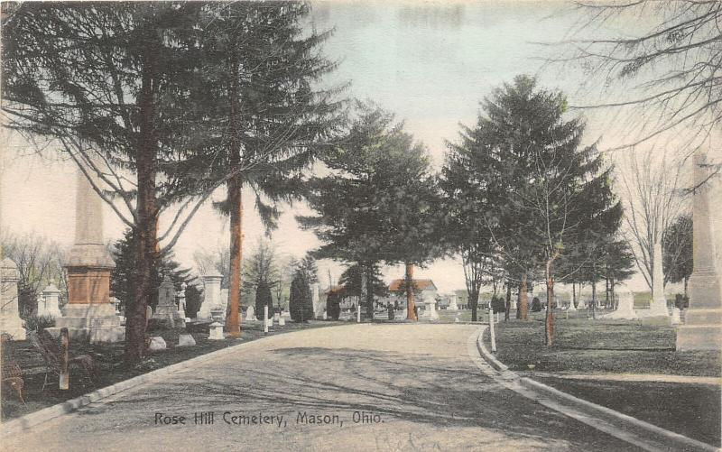 F28/ Mason Ohio Postcard c1910 Rose Hill Cemtery