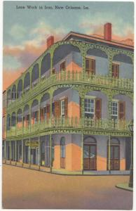 Lace Work in Iron, New Orleans, LA, unused Postcard