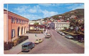 The Main Square of Charlotte Amalie, US Virgin Islands, 40-60s