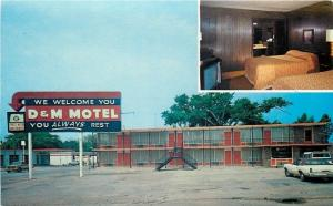 Forrest City AR~D & M Motel: Welcome You Sign~You're A Guest Not A Number 1960s