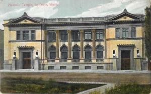 Masonic Temple Spokane Washington WA Divided Back
