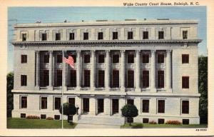 North Carolina Raleigh Wake County Court House 1951 Curteich