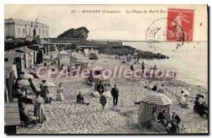 Old Postcard Roscoff Finistere Beach Roc'h Krum
