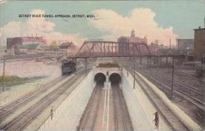 Michigan Detroit Detroit River Tunnel Approach 1919
