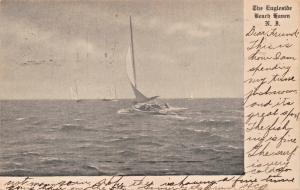 BEACH HAVEN NEW JERSEY~THE ENGLESIDE-SAILING POSTCARD 1907 PMK
