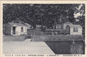 Hill's Cabins, Thousands Islands, ALEXANDRIA BAY, New York, 1910-1920s