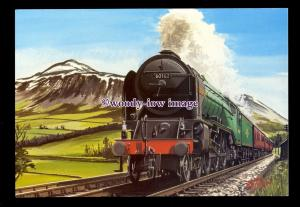 ry1654 - Peppercorn A1 Pacific 60162, St.Johnstone, Artist -G.S.Cooper- postcard