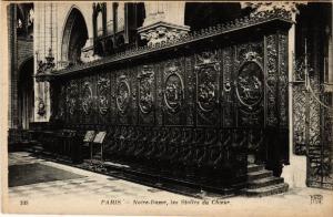 CPA PARIS 4e Notre Dame, les Stalles du Choeur (446214)