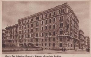 Bari Italy Italian Palazzo Acquedotta Pugliese Salvatore Antique Postcard