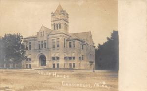 Cassopolis Michigan~Cass County Court House~View from Across Street~1907 RPPC
