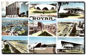 Royan Old Postcard L & # 39eglise port The large beach