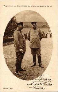 CPA Aufgenommen der Kaiser und Königin im Juli 1915 GERMAN ROYALTY (701069)