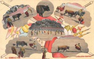 US3086 Spain Gibraltar Bull Fight, Arena Coleccion Taurina corrida
