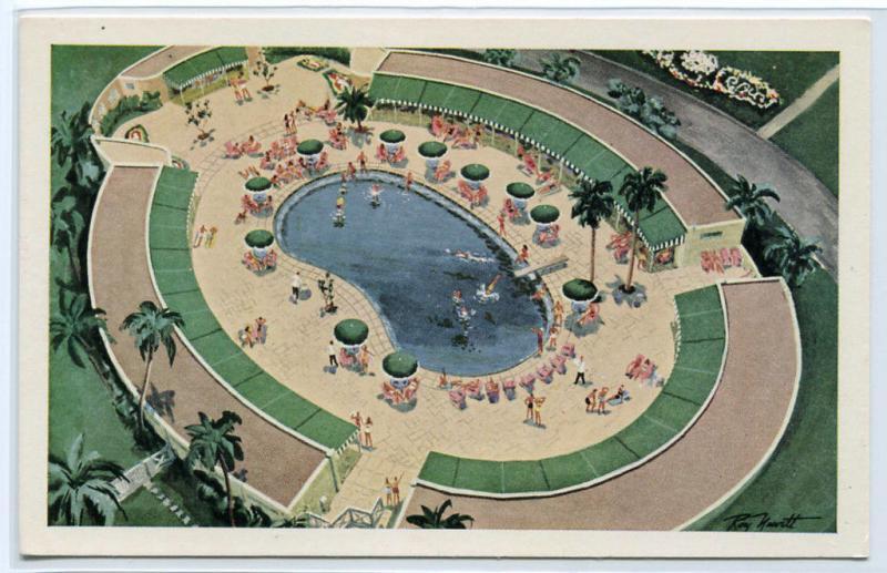 Cabana Sun Club Swimming Pool Hotel National de Cuba Havana postcard