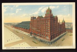 Philadelphia, Pennsylvania/PA/Penn Postcard, Broad Street Station, Railroad/RR