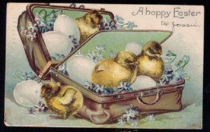 1907 US Sc #300 Embossed Easter Card Boston Mass to Hyde Park Mass.Mar...