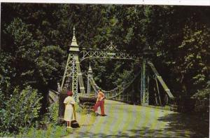 Ohio Youngstown Suspension Bridge In Mill Creek Park