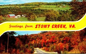 Virginia Greetings From Stony Creek Autumn Scene