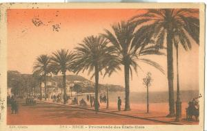 Nice, Promenade des Etats-Unis, early 1900s used Postcard