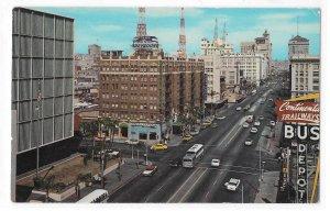 CA San Diego Aerial View Looking East Broadway Ellis Sawyer 60s Photo Postcard