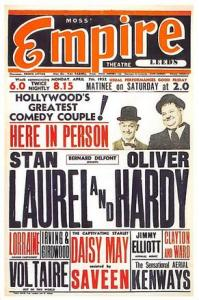 Laurel and Hardy Movie Poster Postcard
