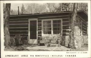Limberlost Lodge Huntsville-Muskoka Ontario Real Photo Postcard