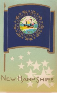 NEW HAMPSHIRE , State Flag , 40-50s ; Serigraph