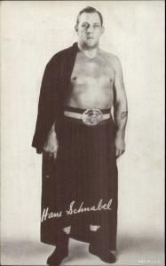 Classis Wrestling - Wrestler Mutoscope Exhibit Card HANS SCHNABEL