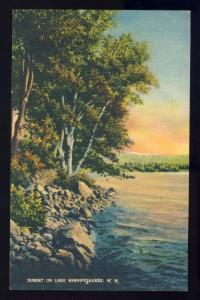 Sunset On Lake Winnipesaukee Postcard,New Hampshire/NH