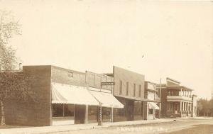 E89/ Cambridge Iowa Real Photo RPPC Postcard c1910 Restaurant Stores Hotel?
