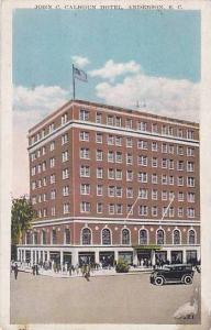 Exterior, John C. Calhoun Hotel, Anderson, South Carolina,   PU-1933