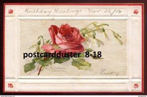 dc1682 - Artist- CATHARINA KLEIN 1906 Art Series Red Rose