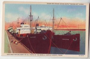 P216 JL postcard 7 ocean ship load cargo corpus christi tx