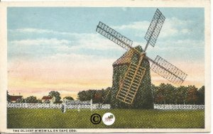 The Oldest Windmill on Cape CodCurteich Vintage Postcard
