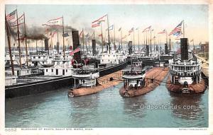 Military Battleship Postcard, Old Vintage Antique Military Ship Post Card Blo...
