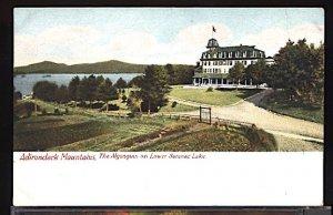 The Algonquin Hotel on Lower Saranac Lake N.Y. in the Adirondacks UDB