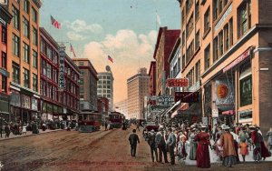 Second Ave. North from Union Street, Seattle, Washington, Early Postcard, Unused