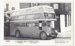 London RT 3106 on Route 124 At Forest Hill PPC Pamlin M2526, Unposted