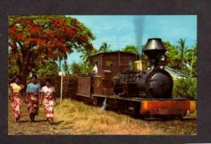 Steam Railroad Sugar Train FIJI Postcard RR PC