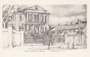 CHARLESTON, South Carolina, 1940-1950's; Miles Brewton House, By Elizabeth O'...