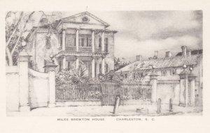 CHARLESTON, South Carolina, 1940-1950's; Miles Brewton House, By Elizabeth O'...
