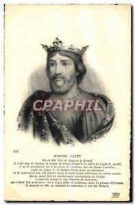 Old Postcard Hugh Capet
