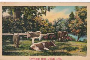 Indiana Greetings From Dyer 1941