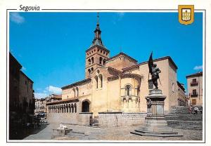Spain Segovia Iglesia San Martin Monumento a Juan Bravo Church Monument Statue