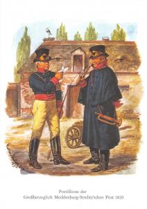 Postcard Art, Postillione, Grand Ducal Mecklenburg-Strelitz Post German 1820 W31