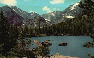 Rocky Mt. Nat'l Park, CO, Long's Peak, 1969 Chrome Vintage Postcard g9377