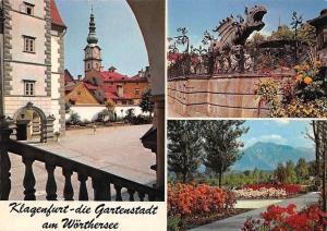 Klagenfurt die Gartenstadt am Woerthersee, Dragon Statue, Flowers Garden Fleurs