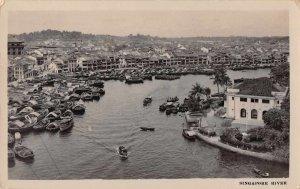 Singapore Malaya River Scenic View NBC Newsfilm Reporter Real Photo PC JI658413