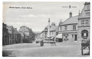Scotland East Melrose Market Square Vintage UK Postcard